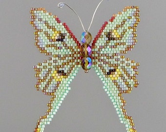 Small Luna Moth PDF Pattern and Tutorial