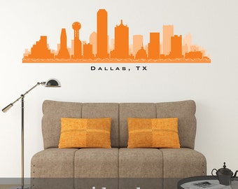 Dallas wall decals etsy for Real estate office wall decor