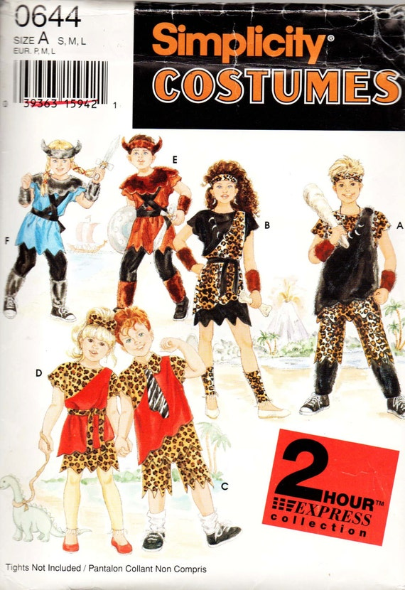 Man Cave Uncut : Simplicity cave man childs costume sewing pattern