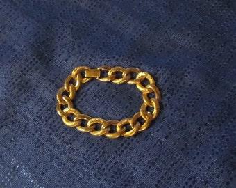 "Vintage 80""s Napier Gold Tone Link Bracelet"
