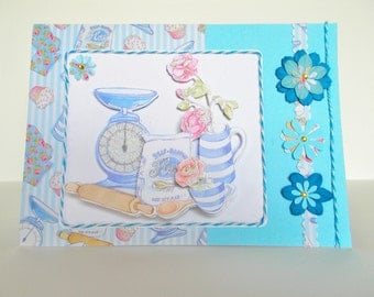 3D Birthday Card 'Bakers Delight'