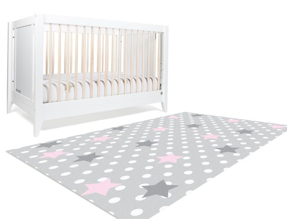 moon and stars nursery star rug stars nursery by hawkerpeddler. Black Bedroom Furniture Sets. Home Design Ideas