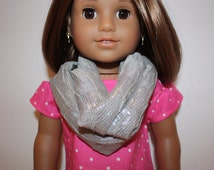 Handmade doll clothes, 18 inch doll clothes, handmade doll clothes, Infinity scarf for 18 inch doll