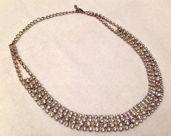 Vintage Multilayer Sparkling Rhinestone Bridal Choker Necklace