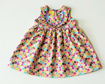 Multi Coloured Dotty Party Dress