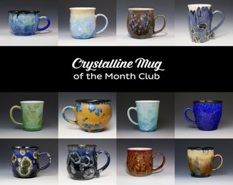 Crystalline Mug Cup Tumbler of the Month Club Gift Subscription Stein Surprise Pottery