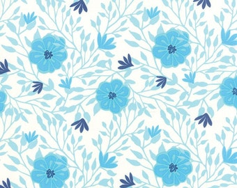 Paradiso by Kate Spain - Camelia Pearl Blue - 1/2yd