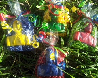 ranger crayons, ranger party favors,  boys party favors, girls party favors, superhero party 20 bags
