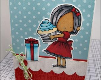 Handmade Birthday Card for a Girl