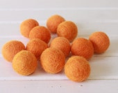 Orange Felt Balls 12 count