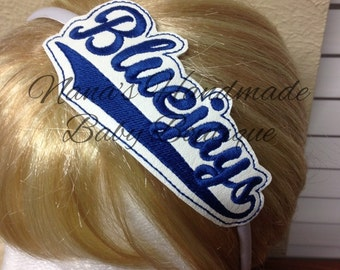 Bluejays - Team Headband Slip On  - DIGITAL EMBROIDERY DESIGN