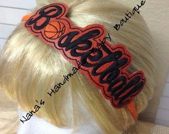 Basketball - Team Headband Slip On - DIGITAL EMBROIDERY DESIGN