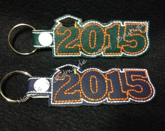 2015 Graduation SNAP Key Fob In The Hoop - DIGITAL Embroidery DESIGN