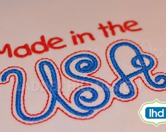 Made in the USA --Independence Day Fourth of July Embroidery Design S029