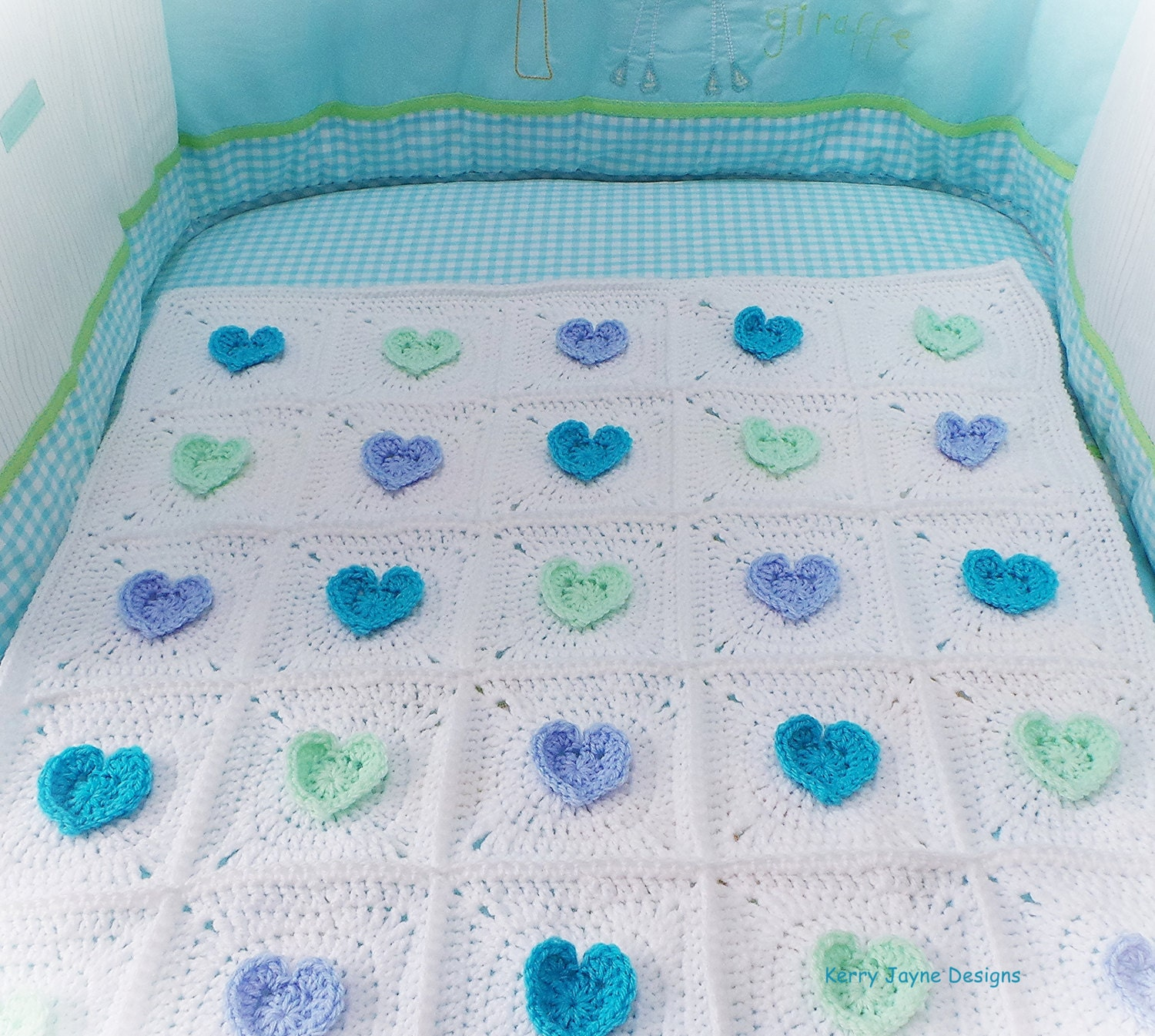 All heart crochet blanket pattern baby blanket pattern crochet this is a digital file bankloansurffo Images