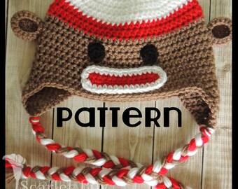 PATTERN Monkey Crochet Hat