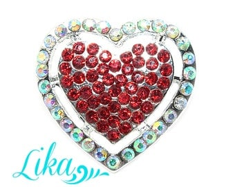 Heart Rhinestone - Metal Rhinestones- Rhinestone buttons - Pearl Rhinestone - Wholesale - Flatback Rhinestone - Wedding - Valentine's day