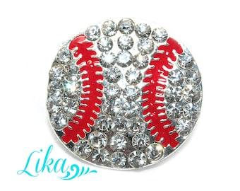 Baseball Rhinestone Slider - Sports Rhinestone Button - Rhinestone Button - Metal Rhinestone - Wholesale
