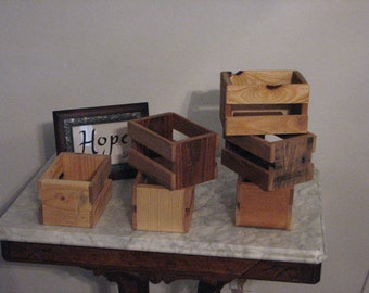 Small Rustic Crate 5 pack