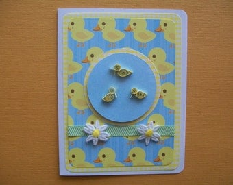 Sweet Little Baby Card - Baby Annoucement Card, Baby Card, Blank Inside, Baby Shower