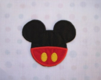 Mr Mister Mickey Mouse Pants and Ears  Iron on No Sew Embroidered Patch Applique