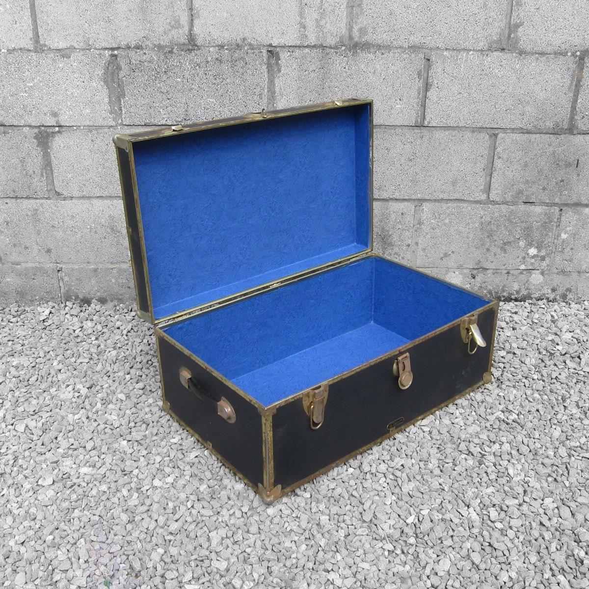 Black Trunk Chest Box Coffee Table Storage