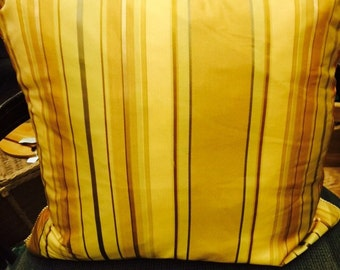 Pair of Silk Stripe Pillows