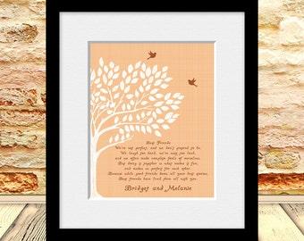 BEST FRIEND Poem, Best Friends Wedding Gift, Best Friend Gift Print, Maid of Honor Gift, Best Friend's Gift, Personalized Best Friend Gift