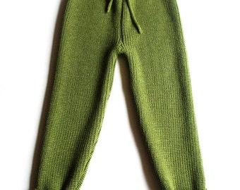 Babies/Children's/Toddlers Virgin wool pants/trousers/longies/leggings/gray/blue/mustard