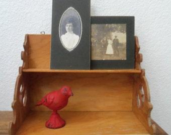 Vintage Handmade Gingerbread Cutout Wood Shelf