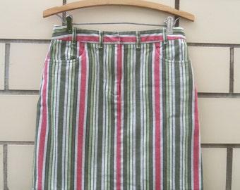 Fab Vintage Striped Mini skirt Size Small-Medium