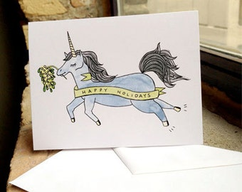 Magical Unicorn Holiday Card