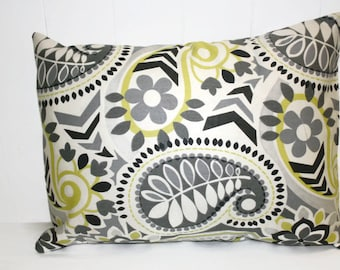 Decorative 18x18 Waverly Paisley Prism Domino Pillow Covers