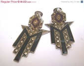 20% SALE Gold-plated clip-on earrings with rhinestone, original 80s gold plated, nickel free, gold, vintage style gift for her, Valentine's