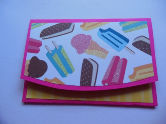 Ice Cream Gift Card Holder Gift Card Holder With Ice