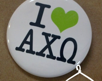 Alpha Chi Omega New York Button or Magnet