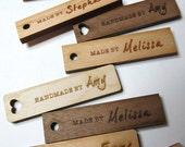 50 - .5 x 2 Handmade Wood Tags - Knitting Tags - Wood Tags