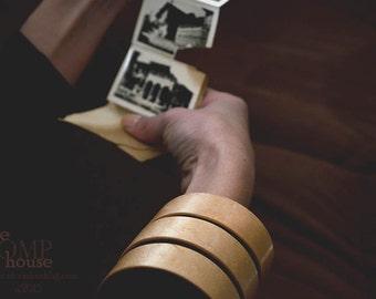Spiral.Wooden bracelet. Veneer wood -Bird's eye Maple