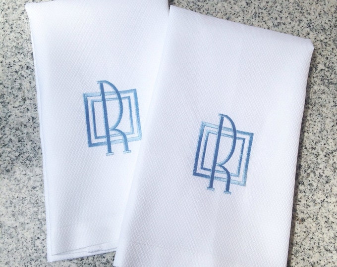 Featured listing image: Monogram Guest Towel / Wedding Gift / Monogram Gift / Hand Towel