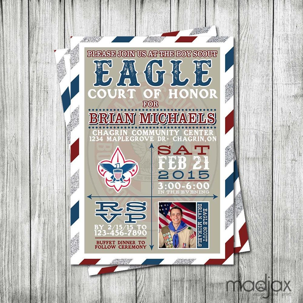 Eagle Scout Invitation DIGITAL FILE Court of Honor
