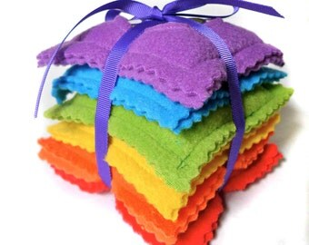 Rainbow Beanbags - Hand warmers - Bump Bag
