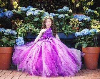 Orchid Purple Flower Girl Dress