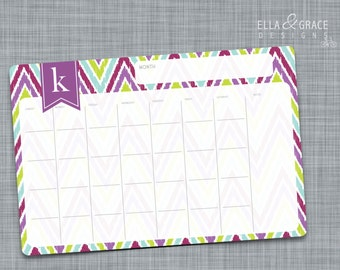 Personalized Monthly Desk Calendar.