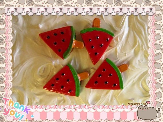 0: )- CABOCHON -( Sweets Watermelon Popsicle