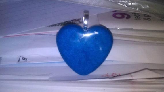 Pendant - Blue Heart