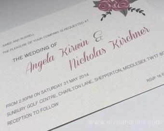 Vintage Roses Wedding Invitation - Sample