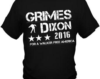 The Walking Dead T Shirt Tee Sheriff Rick Grimes Daryl Dixon 2016 Zombie New