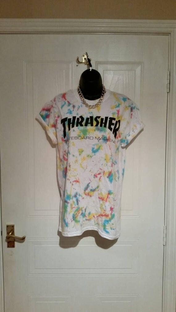 Thrasher t Shirt Tie Dye Tie Dye Thrasher t Shirt