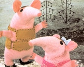 The Clangers Knitting Pattern : Items similar to vintage knitting pattern PDF file for The Clangers retro tv ...