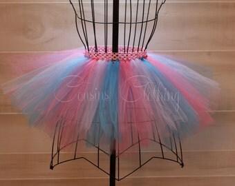 Running Tutu - Race Tutu - Adult Tutu - Cotton Candy Tutu -  Pink and Blue Tutu -  Marathon Tutu - 5K Tutu - Pastel Tutu - Baby Pink Tutu